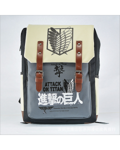 Attack On Titan Shingeki no Kyojin Blue Backpack Schoolbag Shoulder Bag Cosplay Accessories