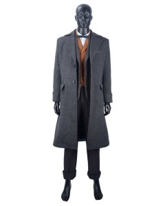 Fantastic Beasts: The Crimes of Grindelwald Newt Scamander Coat Cosplay Costume NEW