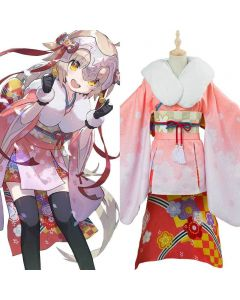 Fate/Grand Order Jeanne d'Arc Alter Santa Lily Cosplay Costume New Year Kimono