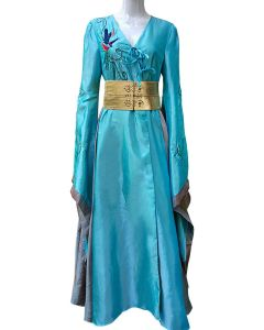 Game of thrones Cersei Lannister Blue Luxury Dress Cosplay Costume