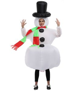 Inflatable Christmas Snowman Adult Size Cosplay Costume