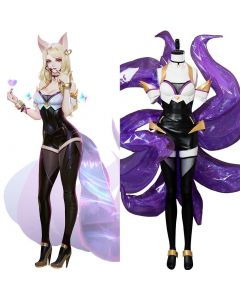 League of Legends the Nine-Tailed Fox Ahri K/DA Skin Cosplay Costume