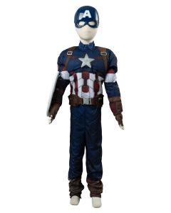 Marvel Avengers Captain America Costume For Kid Cosplay Costume