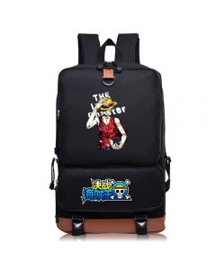 One Piece School Bag Black Backpack