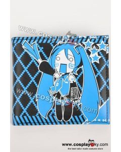 Vocaloid Miku Hatsune Themed Blue Wallet Purse