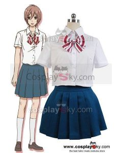 Wolf Girl and Black Prince Ayumi Sanda Shirt Skirt Outfit Cosplay Costume