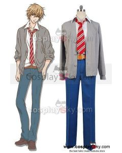 Wolf Girl and Black Prince Kyouya Sata Coat Pants Outfit Cosplay Costume